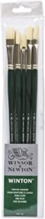 Winsor & Newton Winton Long Handle Brush (5 Pack) (Round 6, Filbert 6, Flat 6, Bright 8, Fan 3)