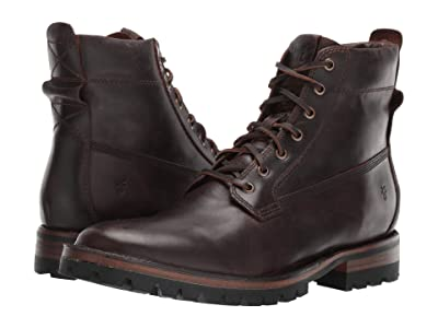 Frye Union Workboot (Dark Brown WP Smooth Pull-Up) Men