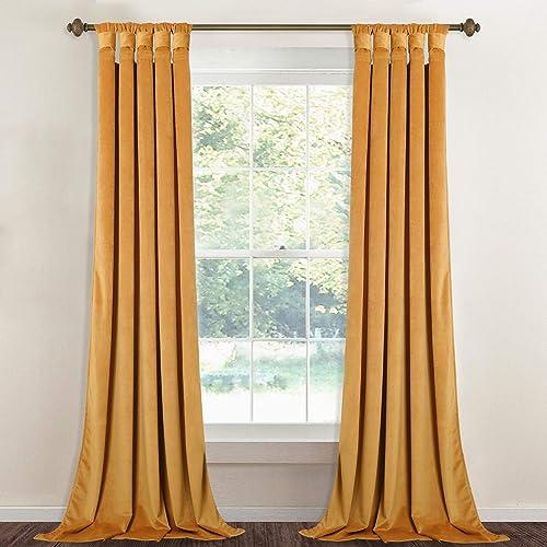 Tape Top Curtains Antique Designer Golden Curtains Treatment Door Drape Curtians Quality First Window Treatments & Hardware