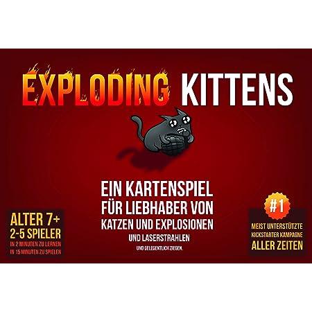 Asmodee Exploding Kittens, Grundspiel, Partyspiel, Kartenspiel, Deutsch