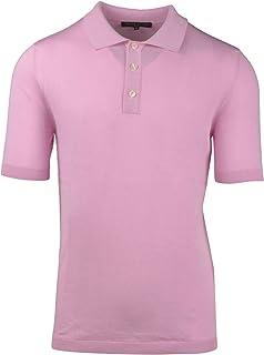 BRIAN DALES Luxury Fashion Mens KN2920M15862 Pink Polo Shirt | Spring Summer 20