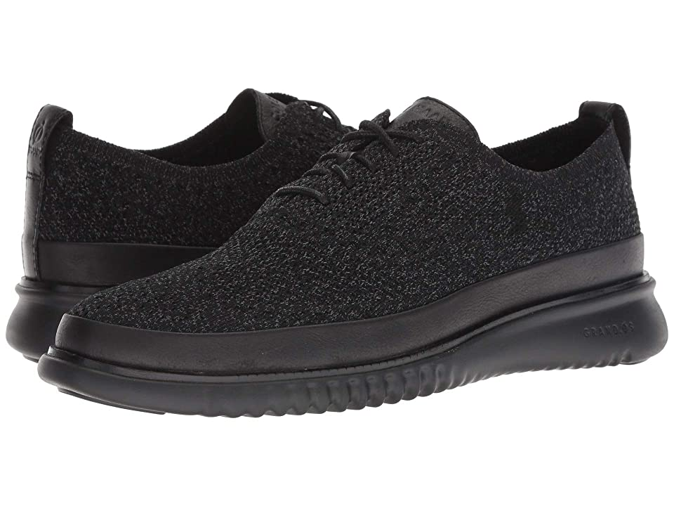 Cole Haan 2.Zerogrand Stitchlite Oxford Water Resistant (Black Knit/Black) Men