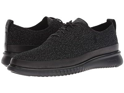 Cole Haan 2.Zerogrand Stitchlite Oxford Water Resistant (Black Knit/Black) Men