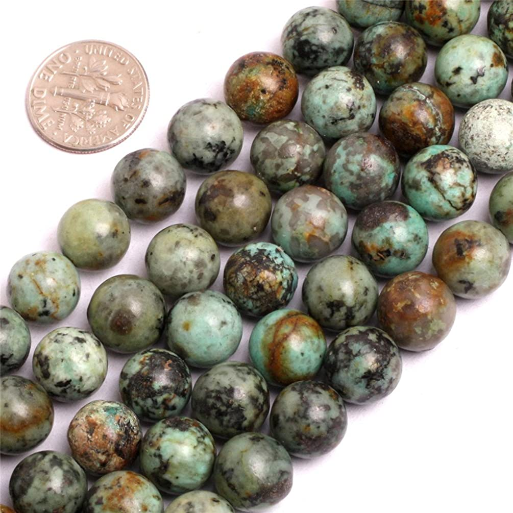 Africa Turquoise Beads for Jewelry Making Natural Gemstone Semi Precious 10mm Round Blue 15