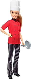 ​​Barbie Chef Doll, Petite, Dressed in Chef-Inspired Coat with Frying Pan, Chef'S Hat and Blonde Hair, Gift for 3 to 7 Year Olds​​
