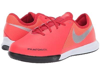 Nike Kids Phantom Vision Academy IC (Little Kid/Big Kid) (Bright Crimson/Metallic Silver) Kids Shoes