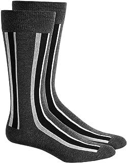 $51 Alfani Mens 4 Pairs Pack Casual Dress Crew Socks Grey Blue Red Shoe 7-12