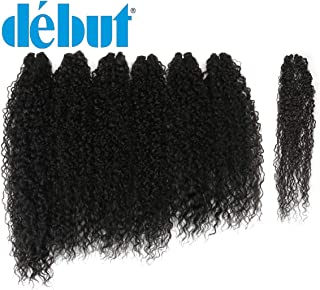DÉBUT synthetic hair bundles weave bundles 7pcs Afro Kinky curly 22 24 26 inch 220g high temperature fiber