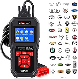 KONNWEI OBD2 Scanner Professional OBD II Auto Fault Code Reader Automotive Check Engine Light Diagnostic EOBD Scan Tool for All OBDII Protocol Cars Since 1996 (Enhanced KW850)