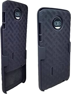 Moto Z2 Force Case with Belt Clip Combo Shell Holster Black HAGEN