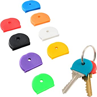 Uniclife Key Cap Covers Ringen, 32 Stuks, 8 Geassorteerde Kleuren Key Identifier Tag Covers