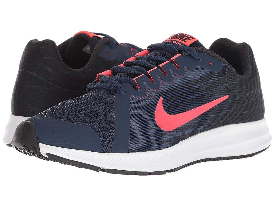 Nike Kids Downshifter 8 (Big Kid) (Midnight Navy/Flash Crimson/Oil Grey) Girls Shoes
