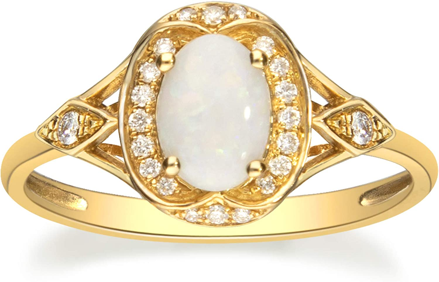 Gin Grace 10K 正規販売店 Yellow Gold Real I1 Natural 驚きの値段で with Ring Diamond
