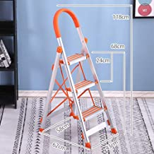 Portable Aluminum Ladder, Household Folding Thickening Three-step Multi-function Folding Engineering Ladder Climbing Stairs Free Installation, No Rust, Stable