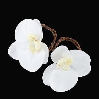 www.Beadingsupplys.com Set of Six Wedding Napkin Rings, Flower Linen Napkin Rings, Rustic Table Décor