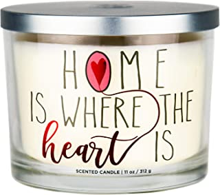 "Aromascape PT41417  ""Home is Where the Heart Is"" 3-Wick Scented Candle (Brown.."