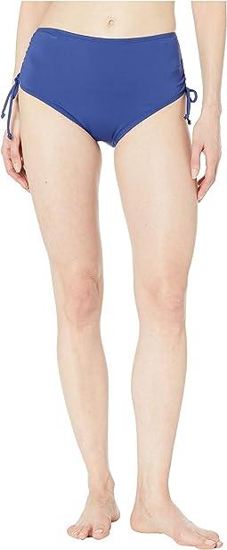 Solids Mid Waist Adjustable Tie Side Pant Bottoms