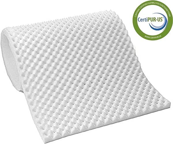 Vaunn Medical Egg Crate Convoluted Foam Mattress Pad 3 Thick EggCrate Mattress Topper Hospital Bed Twin Size