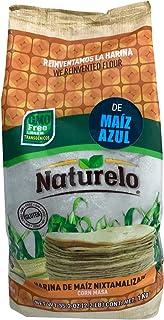 Naturelo Harina de Maíz Azul Nixtamalizado, Autentico sabor a México, 1 kilogramos
