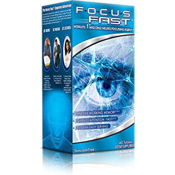 Focus Fast Nootropic Brain Supplement. World's 1st & Only Neuro Focusing Agent. Improve Memory, Focus and Cognition with 39 Premium Ingredients in as Little as 1 Hour