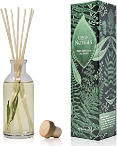 Urban Naturals Bamboo Reed Diffuser Oil with Sticks Set | Fresh Bamboo, Black Musk, Japanese Cypress | Convenient Scented Air Freshener & Room Scent Infuser | Vegan. Made in The USA