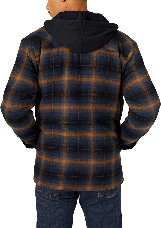 Dickies Men's Big & Tall Big-Tall Relaxed Fleece Hooded Flannel Shirt Jacket