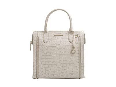 Brahmin Terrace Caroline Satchel (Ivory) Handbags