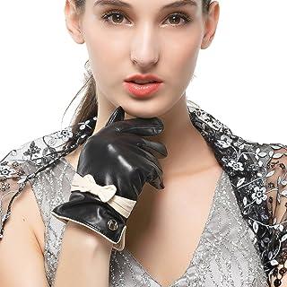 Nappaglo donne classico nappa, guanti di pelle touchscreen inverno caldo guanti d'arco