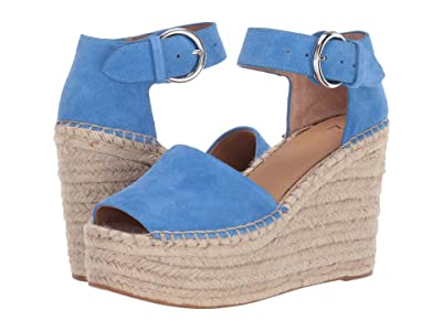 Marc Fisher LTD Alida Espadrille Wedge (Medium Blue Suede 1) Women