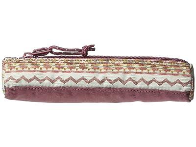 Burton Token Case (Aqua Gray Revel Stripe Print) Handbags