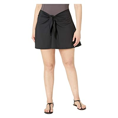 BECCA by Rebecca Virtue Plus Size Color Code Cover Skirt Cover-Up (Black) Women