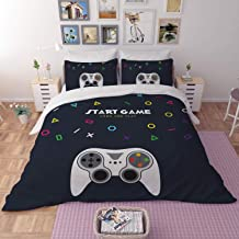 Game # Gamer Eat Sleep Gamer Duvet Quilt Cover Set Single Teenagers Repeat