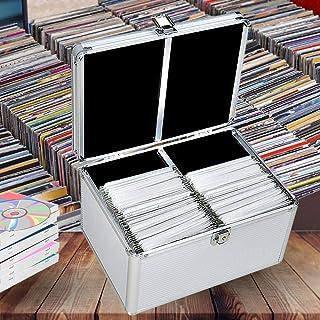 240 Discs Aluminium CD DVD Cases Bluray Lock Storage Box Organizer Free Inserts