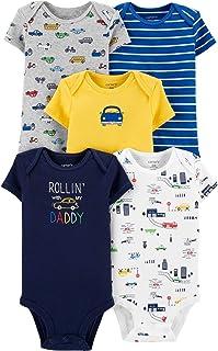 Carter's Baby Boys Bodysuits, Cars, Preemie