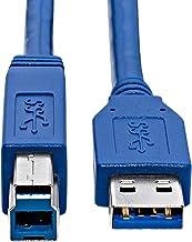 KnnX 28096 | Cable USB 3.0 SuperSpeed | Longitud 1m | A Macho a B | Conexión súper rápida para Discos Duros externos HDD, Hub, Servidor de Almacenamiento NAS y Otro Dispositivos de Alta Velocidad