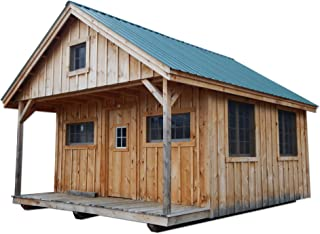 16x20 Timber Frame Post and Beam Vermont Cottage (C) with Loft Pre-Cut Kit with Step-by-Step DIY Plans