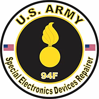 Military Vet Shop U.S. Army MOS 94F Special Electronics Devices Repairer Window Bumper Sticker Decal 3.8