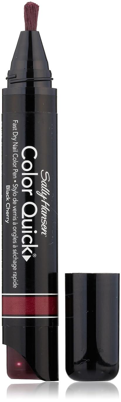 争う逃す楽観SALLY HANSEN COLOR QUICK FAST DRY NAIL COLOR PEN #13 BLACK CHERRY