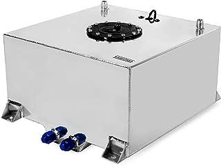 SABADIVA Fuel Tank 10 Gallon Tank | 1 Pc Fuel Cell Lightweight Polished Aluminum Race Drift Fuel Cell Tank Level Sender Universal Fuel Sending Unit