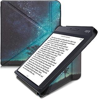 kwmobile 対応: Kobo Libra H2O ケース - 折り紙式 reader 全面保護 スタンド 電子書籍 カバー コスミックナイトデザイン