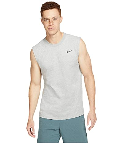 Nike Big Tall Dry Tee Training Sleeveless Solid (Dark Grey Heather/Black) Men