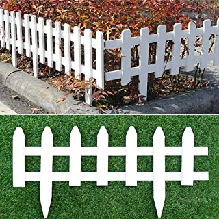 uyoyous 2 Pack Wood Picket Fence 23.6