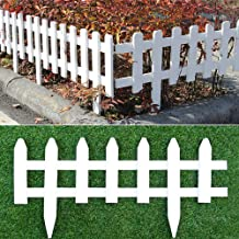 WAREORIGIN 6 Pack Vinyl Fence Pickets- 12 inches Height/×1.5 ft Length in Total for Garden Flower Bed,Patio,LawnLandscape