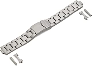 Hadley-Roma Men's MB5919RTIS&C 18 18-mm Titanium Finished Stainless Steel Watch Strap