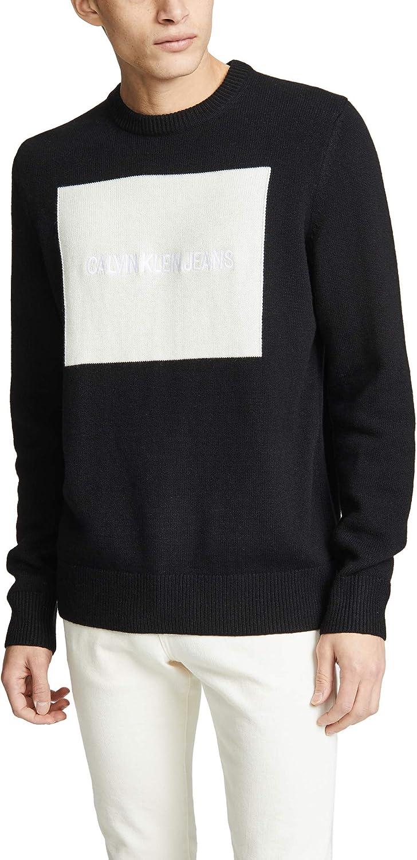 Calvin Klein Men's Crewneck Logo Over item handling online shop Sweater