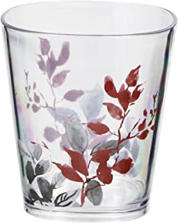 Corelle Coordinates by Reston Lloyd Kyoto Leaves Acrylic Square Rock Glasses, 14-Ounce, Set of 6