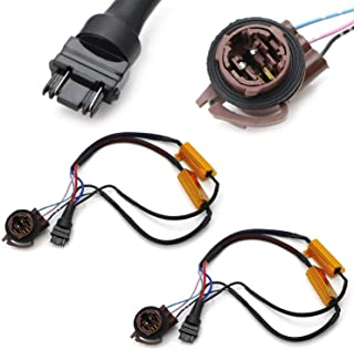 iJDMTOY (2) Hyper Flash/Bulb Out Error Fix Wiring Adapters Compatible With 3157 3057 3155 3357 3457 4157 LED Bulbs Turn Signal or Tail Brake Lights
