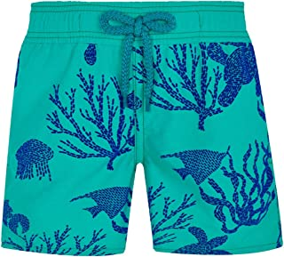 Vilebrequin - Boys - Swimwear Flocked Coral and Turtles