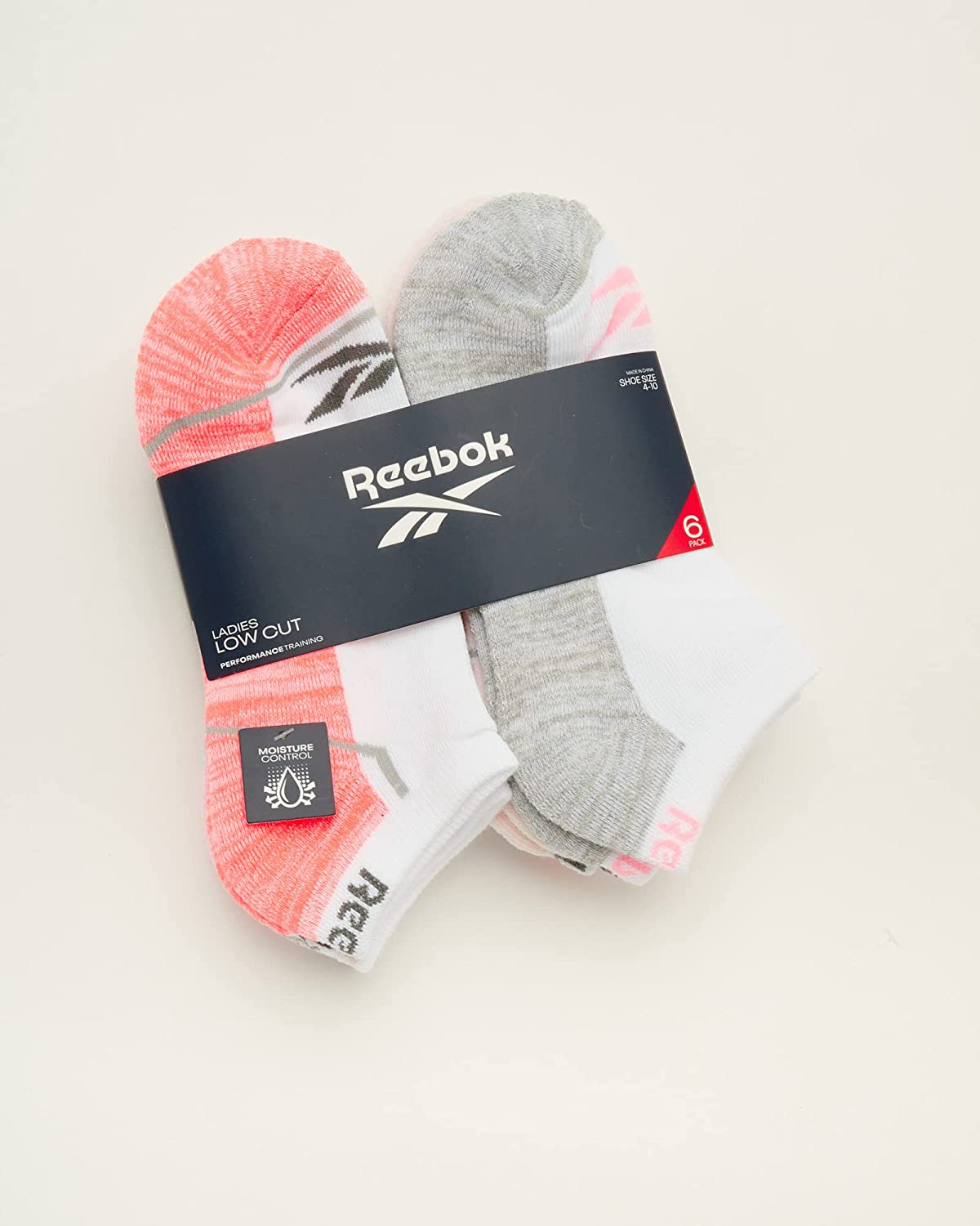 Reebok Women's No-Show Athletic Performance Low Cut Cushioned Socks (6 Pack)