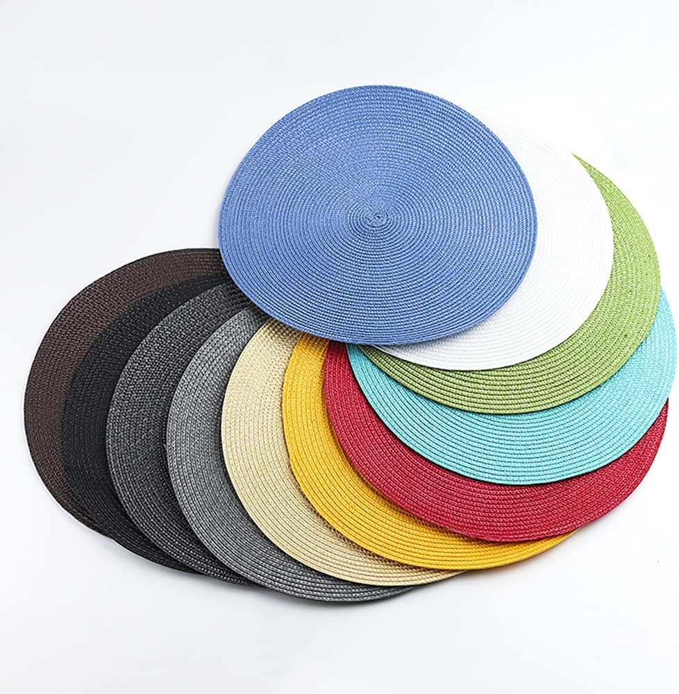 Mgsda 11 Nippon regular agency Pack Round Woven P Pp Hand-Woven Placemats Eco-Friendly Houston Mall